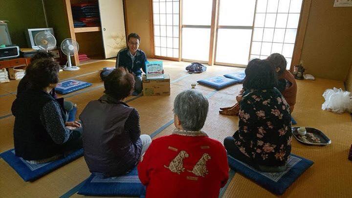 齋藤光樹さん(福島)が、この1週間で3地区の集会所で、紙芝居を使って認知症のお話を♬