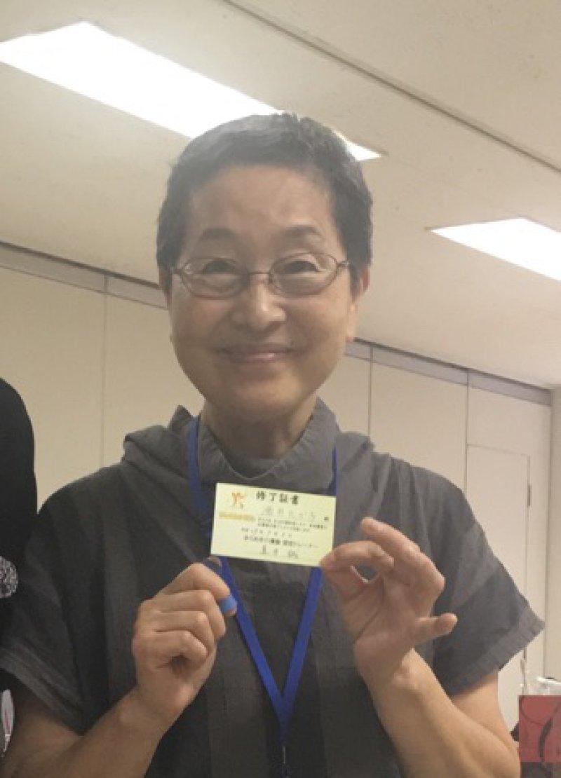 酒井たか子さん(千葉)が、紙芝居を使って22人の方に認知症のお話を♬