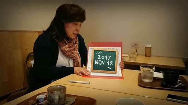 田中雪路さん(岡山)が、カフェで紙芝居を使って認知症のお話を♬
