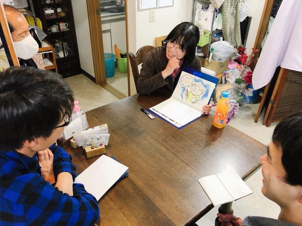 川辺文枝さん(神奈川)が、新人職員さんに紙芝居で認知症研修を♬