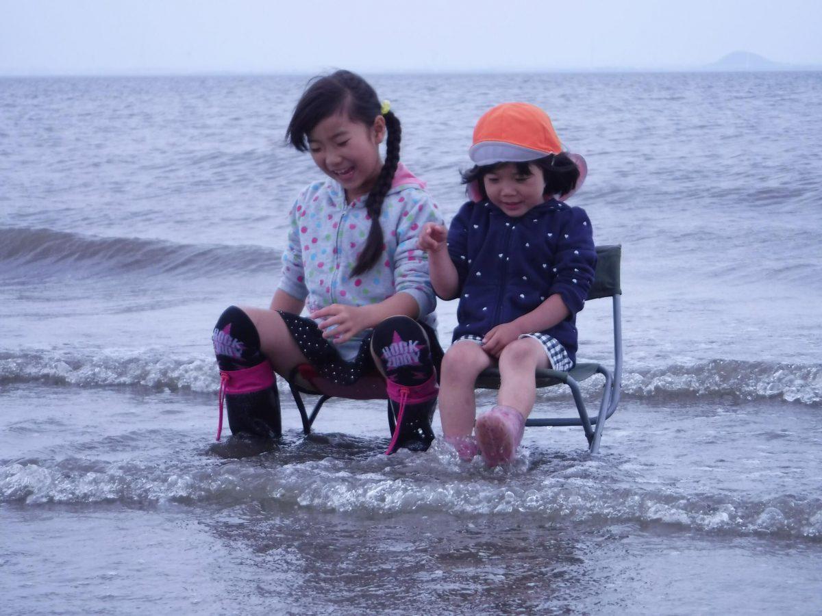 長靴の中が海になった