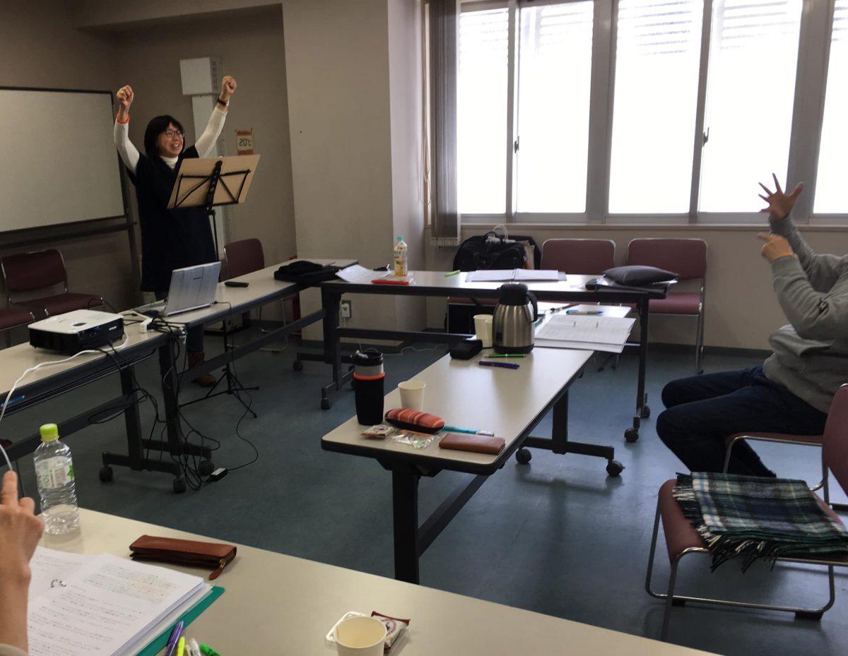 引き続き、北海道江別市にて【認知症トレーナー養成講座】をしました。